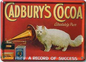 Cadbury's Cocoa A record of success Mini-Blechschild - Vorschau
