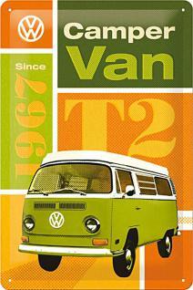 VW - Camper Van T2 Blechschild - Vorschau