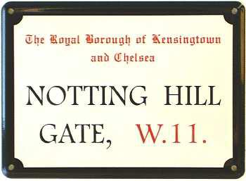 Notting Hill Mini Blechschild