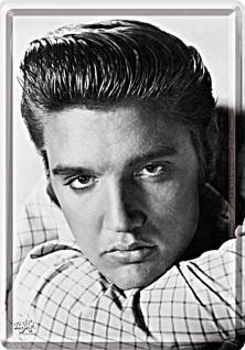 Blechpostkarte Elvis Portrait