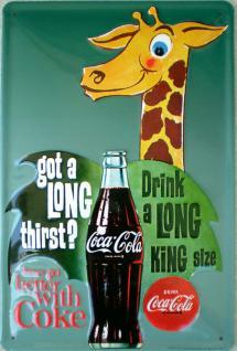 Coca Cola Things go better Blechschild
