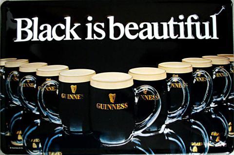 Guinness Black is beautiful Blechschild