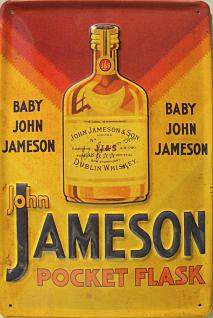 John Jameson Pocket Flask Blechschild