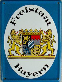 Freistaat Bayern Mini-Blechschild - Vorschau