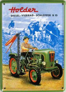 Holder Diesel Vierrad Schlepper Mini Blechschild