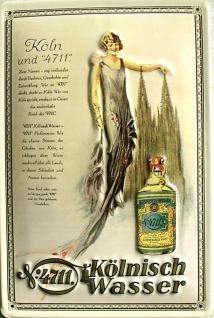 4711 Kölnisch Wasser Blechschild