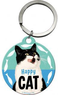 Schlüsselanhänger - Happy Cat