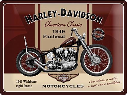 Harley-Davidson Panhead Blechschild - Vorschau