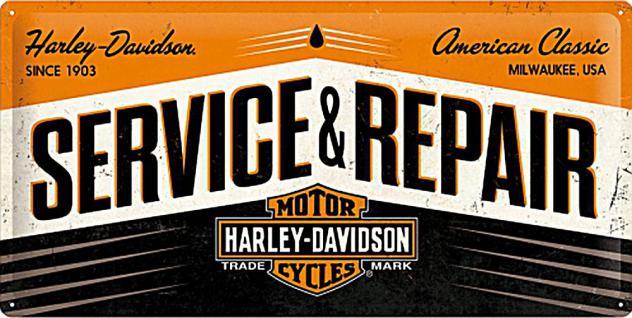 Harley-Davidson - Service and Repair Blechschild - Vorschau