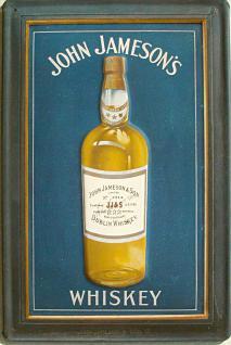 John Jameson's Whiskey blau Blechschild