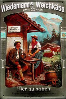 Wiedemann's Weichkäse Blechschild - Vorschau