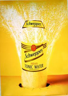 Schweppes Indian Tonic Water Blechschild