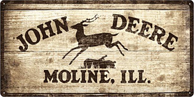 John Deere - Logo 1937 Blechschild - Vorschau