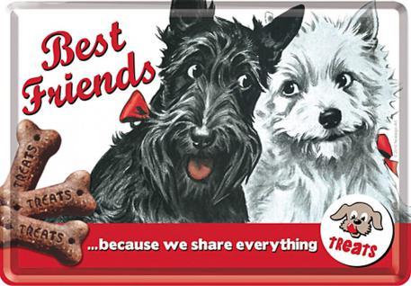 Blechpostkarte Best Friends