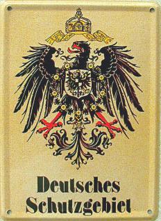 Deutsches Schutzgebiet Mini-Blechschild