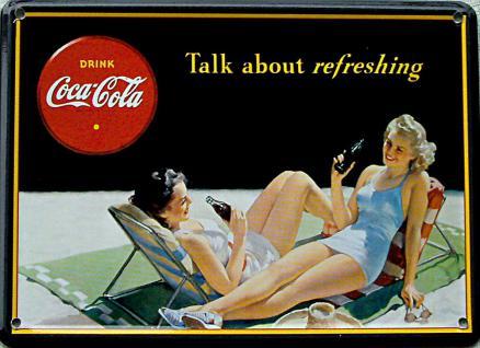 Coca Cola Talk about refreshing Mini Blechschild