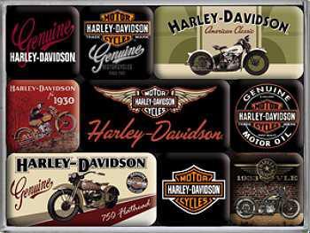 Magnet-Set Harley Davidson Bikes - Vorschau