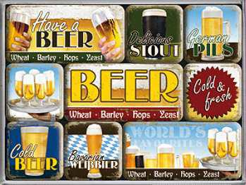 Magnet-Set Worlds Favourite Beers