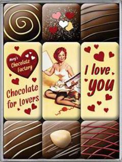 Magnet-Set I Love You Chocolate - Vorschau