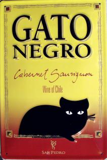 Gato Negro Blechschild