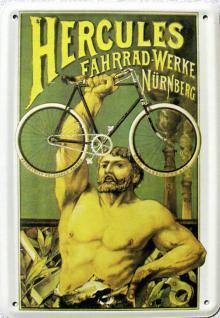 Blechpostkarte Hercules Fahrrad Werke