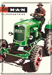 Blechpostkarte M.A.N. 18 PS Allradantrieb - Vorschau