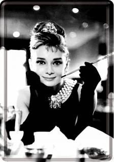 Blechpostkarte Audrey Hepburn - Vorschau