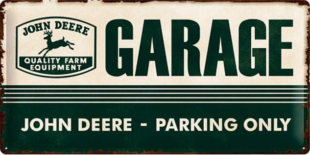 John Deere - Garage green Blechschild