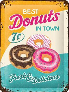 Donuts Blechschild - Vorschau