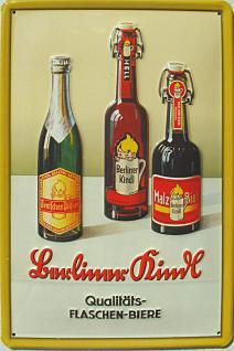 Berliner Kindl 3 Flaschen Blechschild