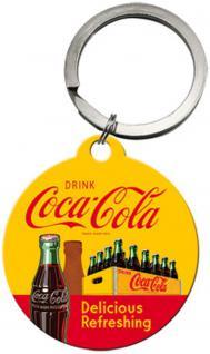 Schlüsselanhänger - Coca-Cola In Bottles Yellow