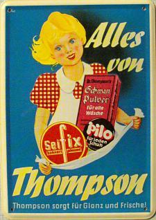 Blechpostkarte Thompson