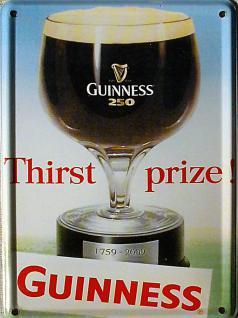 Guinness Thirst Prize Mini Blechschild