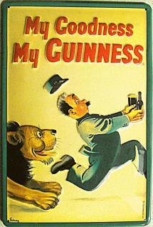 Guinness My Goodness Löwe Blechschild