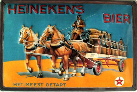Heineken's Bier Blechschild