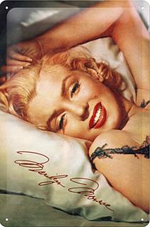 Marilyn Monroe Kopfkissen Blechschild - Vorschau