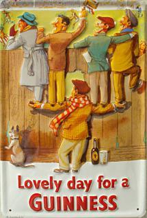 Guinness Lovely Day Fans Blechschild - Vorschau