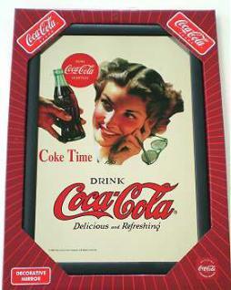 Coca Cola Spiegel Girl - Vorschau