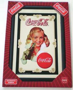 Coca Cola Spiegel Girl mit Flasche