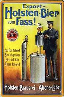 Holsten Bier vom Fass Blechschild