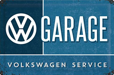VW - Garage Blechschild