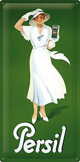Persil - Weiße Dame Grün 1933 Blechschild - Vorschau