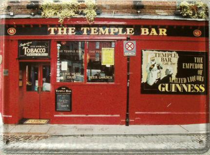 The Temple Bar Mini Blechschild - Vorschau