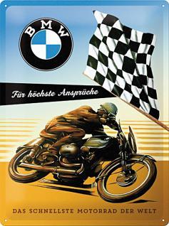 BMW - für höchste Ansprüche Blechschild, 30 x 40 cm - Vorschau