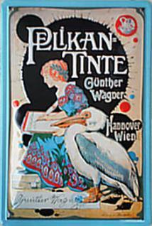 Pelikan Tinte Blechschild - Vorschau