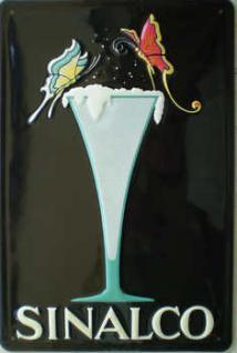 Sinalco Glas Blechschild - Vorschau
