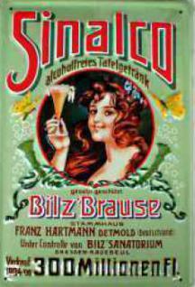 Sinalco Bilz Brause Blechschild