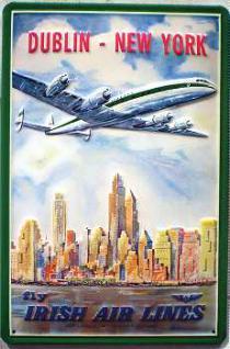 Irish Air Lines Dublin-New York Blechschild - Vorschau