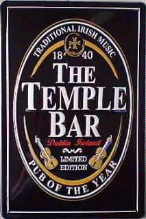The Temple Bar schwarz No.1 Blechschild - Vorschau