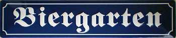 Straßennamenschild Biergarten Blechschild